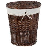 Wicker cesto roupa 45 cm x 37 cm x 55 cm