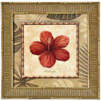 Tropical flores i quadro 38 cm x 38 cm