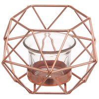 Copper line suporte vela 13 cm