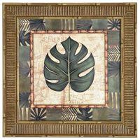 Tropical folhas i quadro 38 cm x 38 cm
