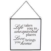 Life takes you placa dec. 20 cm x 21 cm
