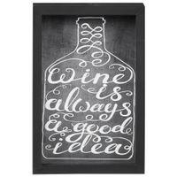 Wine is quadro/porta-rolha 27 cm x 44 cm