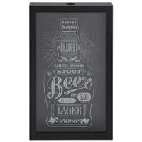 Beer caps quadro/porta-tampas 27 cm x 44 cm