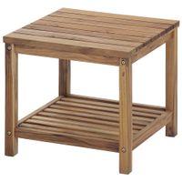 Caraíva mesa lateral c/prateleira 45x45