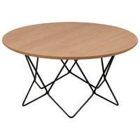 Bezel mesa de centro redonda 80 cm
