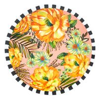 Jardim tropical floral prato raso