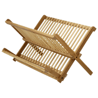 Bamboo escorredor louças dobrável