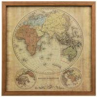 Mapa-mundi eastern hemisph. quadro 33x33
