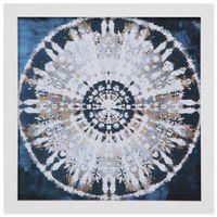 Shibori mandala quadro 33 cm x 33 cm